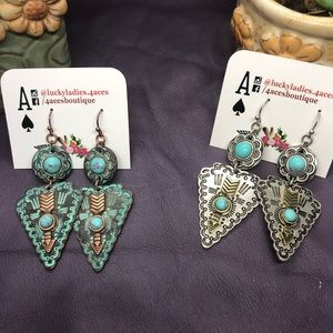 🍍 Sale Fashion Jewelry Boho Aztec Arrow Earring